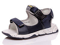 Легкие летние сандали для мальчика из натуральной кожи на липучках(32-38)
