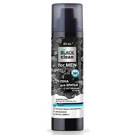 Пена для бритья с активным углем 3 в 1 Витэкс BLACK Clean For MEN 250 мл