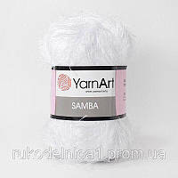 501 Пряжа «Травка» Samba 100гр - 150м (Белый ) YarnArt