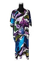Платье средней длины большой размер (C1956)
