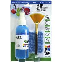 Универсальный чистящий набор ColorWay набір 3в1 Спрей, пензлик, мікрофіб. (CW-1031)
