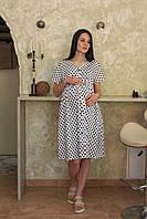 Платье горошек для беременных 6134, фото 1