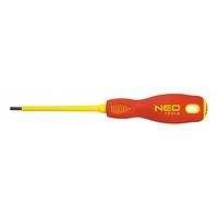 Отвертка NEO шлицевая 3.0 x 100 мм, (1000 В), CrMo (04-052)