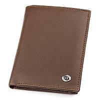 Чоловічий гаманець ST Leather 18348 (ST-2) надміцний Коричневий [22309-12]