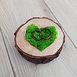 Подушечка, коробочка для обручок з дерева, фото 3