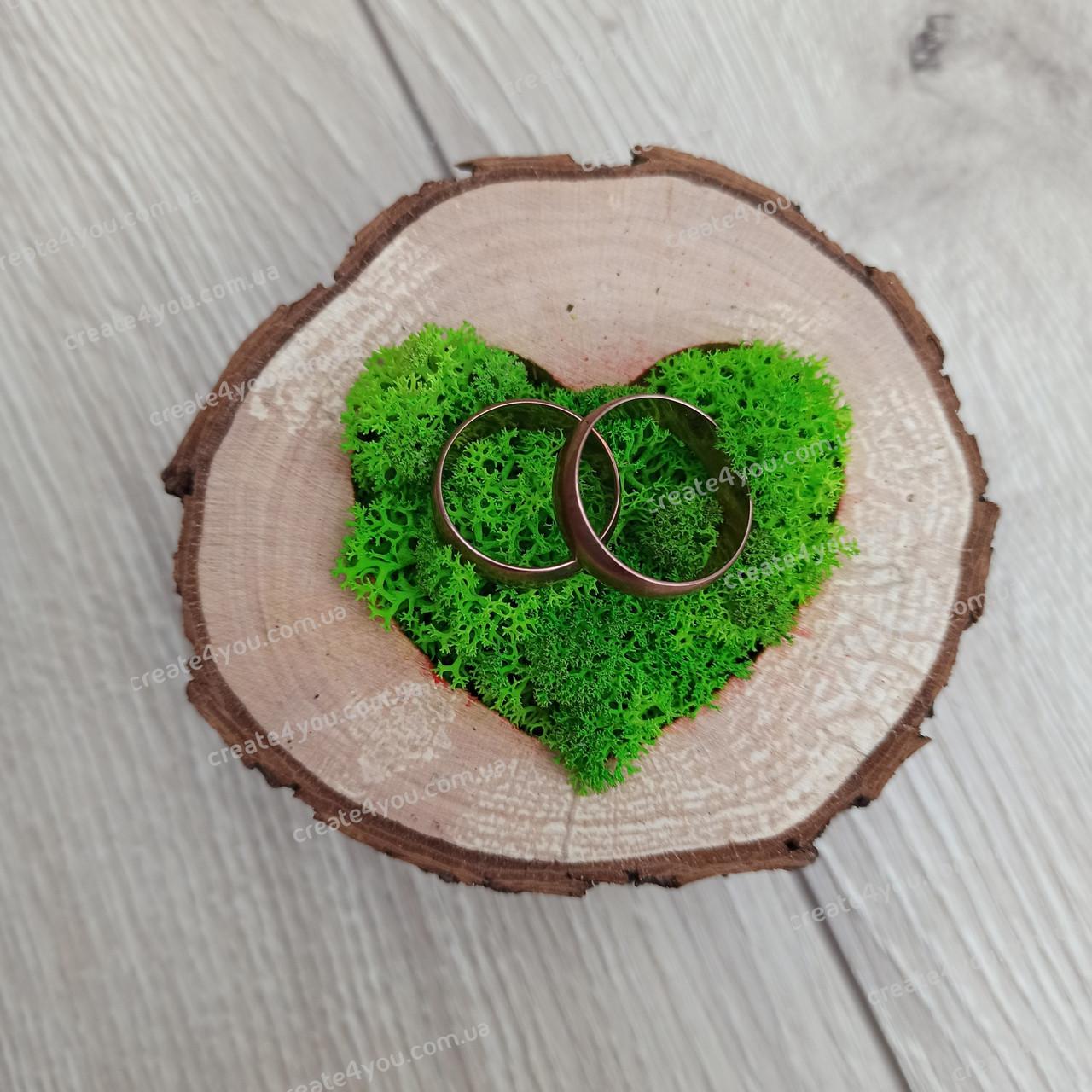 Подушечка, коробочка для обручок з дерева