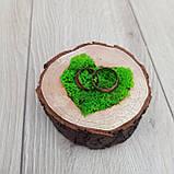 Подушечка, коробочка для обручок з дерева, фото 5