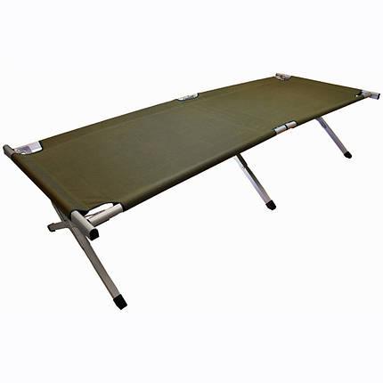Кровать кемпинговая Highlander Aluminium Camp Bed Green, фото 2
