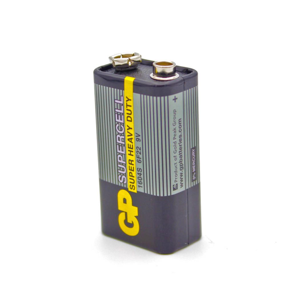 """Батарейки GP Крона 6F22 1.5V """"Черная"""""""