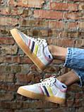 Жіночі кросівки Adidas Samba white (Адідас Самба), фото 4