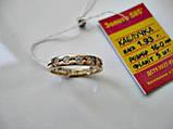 Золоте колечко 585 проби 16 розмір 1.93 грама, фото 3