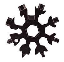 Универсальный ключ Снежинка (черный) Multitool Snowflake Tool гаечный (и не только) с доставкой  GP