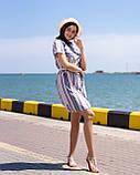 Сорочка-туніка, коротке плаття з тонкого льону з пояском, 3 кольори, р. 44,46,48,50 код 261Ч, фото 5