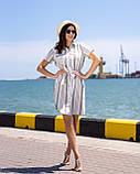 Сорочка-туніка, коротке плаття з тонкого льону з пояском, 3 кольори, р. 44,46,48,50 код 261Ч, фото 3