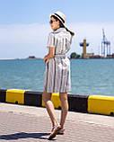 Сорочка-туніка, коротке плаття з тонкого льону з пояском, 3 кольори, р. 44,46,48,50 код 261Ч, фото 4