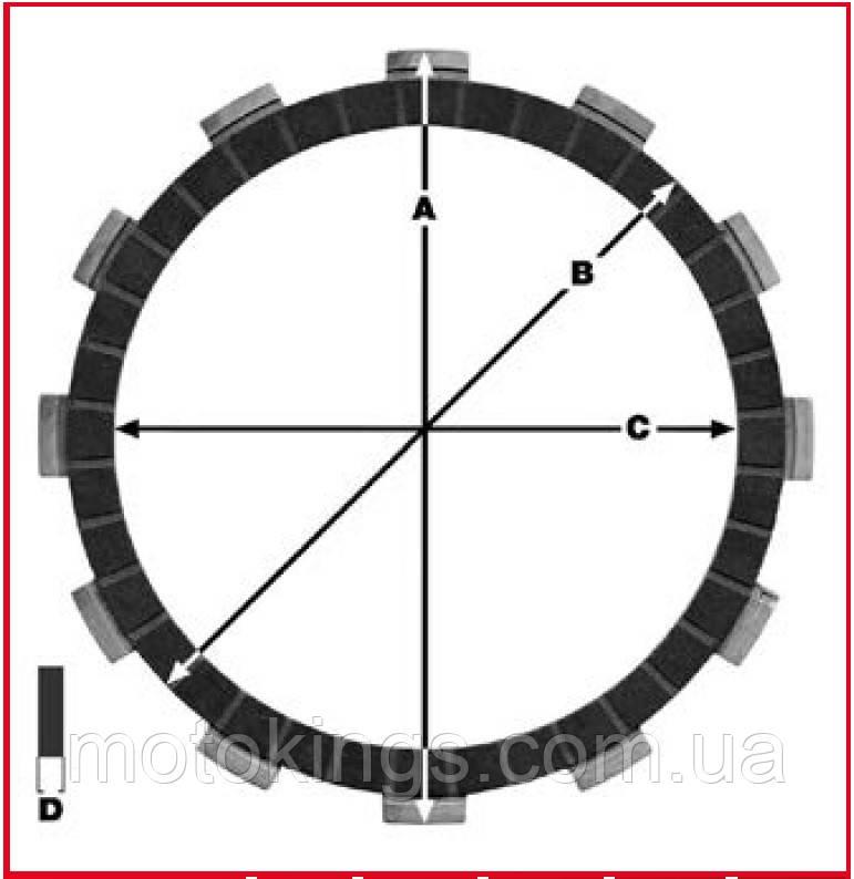 TRW LUCAS ДИСКИ СЦЕПЛЕНИЯ HONDA CBR 125 04-12 (EBS1252) (MCC159-5)