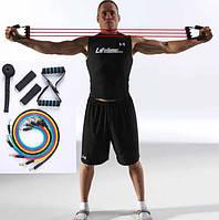 Эспандеры трубчатые  для фитнеса и реабилитации(набор) качественный латекс