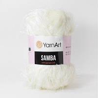 830 Пряжа «Травка» Samba 100гр - 150м (Молочный) YarnArt