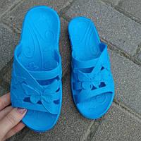Тапочки пена голубые детские (30-35) Украина оптом, фото 1