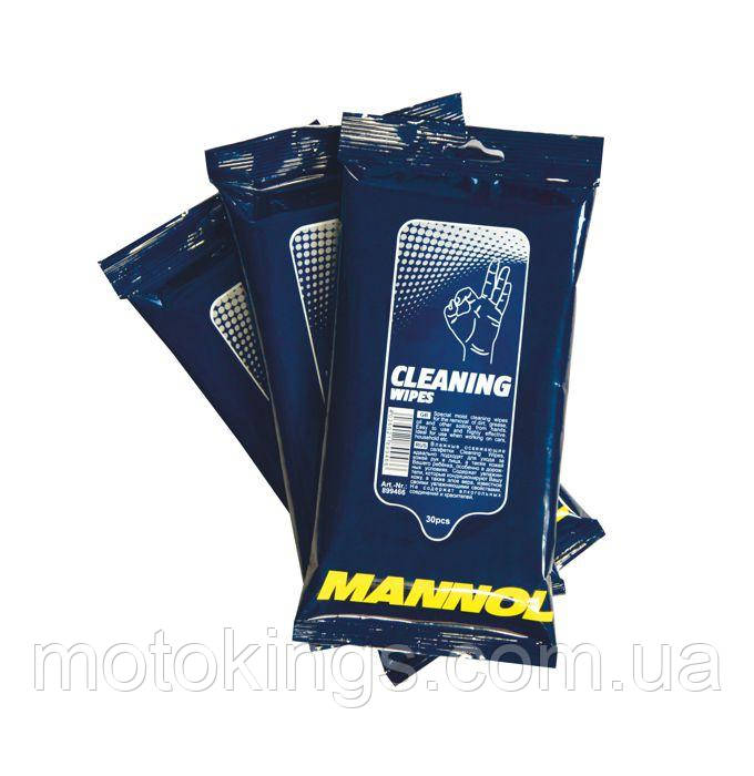 MANNOL CLEANING WIPES - САЛФЕТКИ ДЛЯ РУК И ЛИЦА  (30ШТ. ) (9948) (36) (9948)