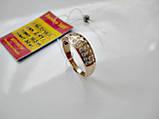 Обручку з фіанітами 2.41 грама 16.5 розмір Золото 585 проби, фото 4