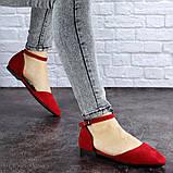 Женские балетки Fashion Bommer 1741 36 размер 23,5 см Красный, фото 3