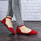 Женские балетки Fashion Bommer 1741 36 размер 23,5 см Красный, фото 4