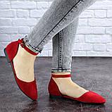 Женские балетки Fashion Bommer 1741 36 размер 23,5 см Красный, фото 5