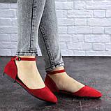 Женские балетки Fashion Bommer 1741 36 размер 23,5 см Красный, фото 6