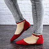 Женские балетки Fashion Bommer 1741 36 размер 23,5 см Красный, фото 7