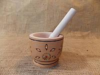 Ступка деревянная с пестиком лакированная