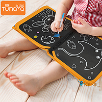 Детская многоразовая раскраска с маркера и 12 штук Tumama Kids Морские обитатели