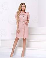 Деловое летнее платье-рубашка, стильный вариант для офисных леди, 4 цветов, р.44,46,48,50 код 281Ч
