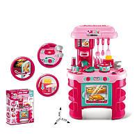 Кухня детская игровая 008-908, 45,5-26,5-в69см, плита, духовка, звук, свет, посуда, 35 предметов
