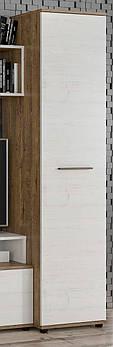 Пенал Феррара МЕБЕЛЬ СЕРВИС (44.6х46х185.9 см) Дуб април + Андерсон пайн (без стенки)