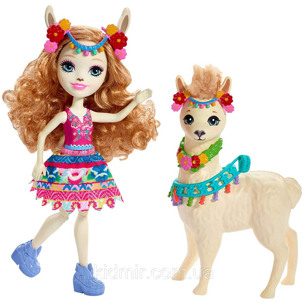 Кукла Enchantimals Лама Ллуэлла с большой зверюшкой FRH42