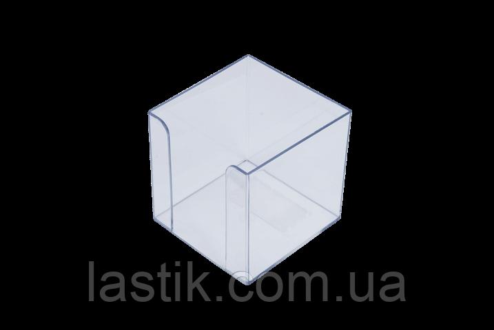 Бокс для бумаги 90х90х90мм, прозрачный