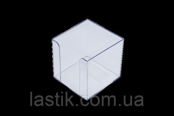 Бокс для бумаги 90х90х90мм, прозрачный, фото 2