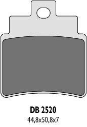 DELTA BRAKING ТОРМОЗНЫЕ КОЛОДКИ    KH355 KYMCO 250/300, SYM (DB2520QD-D)