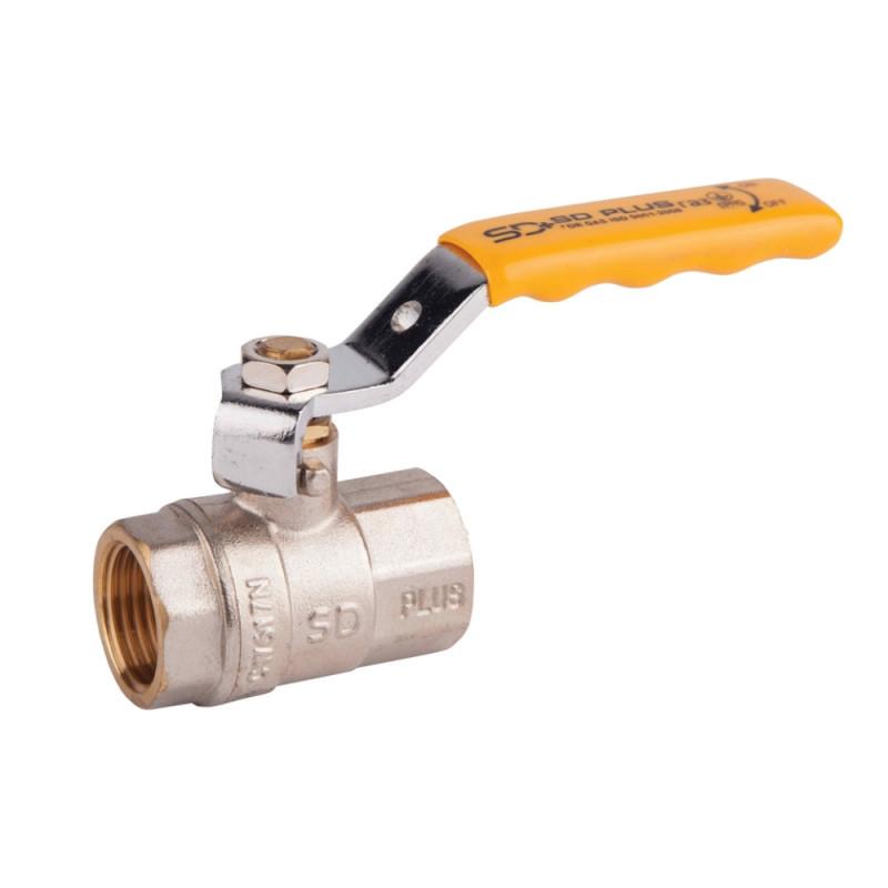 """Кран шаровой SD Plus 1"""" 1/4 ВР для газа (рычаг)"""