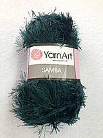 590 Пряжа «Травка» Samba 100гр - 150м (Изумрудный) YarnArt
