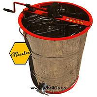 Медогонка 2-х рамочная с поворотом кассет (бак AISI 304, сварная кассте)