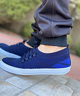 Кроссовки, мокасины мужские, темно-синий