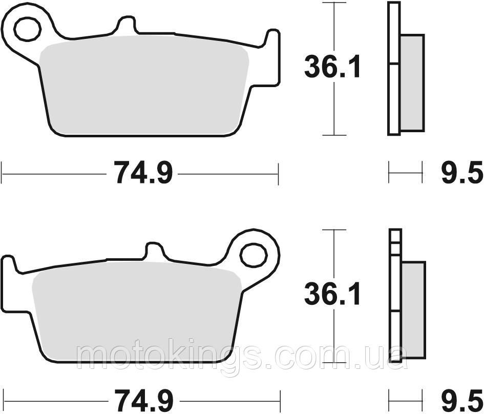 TRW LUCAS ТОРМОЗНЫЕ КОЛОДКИ    KH131 (MCB575)