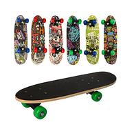 Скейт пласт. (Пени, подвеска, колеса ПУ, 6 цвет.) Арт. MS 2972