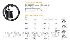 DСE КАТУШКА  ЗАЖИГАНИЯ HONDA XLR 125, CG 125 (30500-KRE-900) (10064-01)