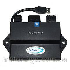 ELECTROSPORT (PROCOM) МОДУЛЬ ЗАЖИГАНИЯ  YAMAHA RHINO 660 (04-07), RHINO 450 (06-10) С USB (PECAY660RA)