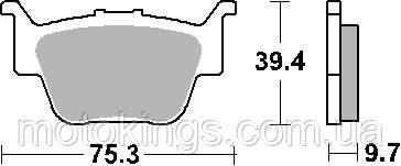 SBS ТОРМОЗНЫЕ КОЛОДКИ    KH373 OFF ROAD  RACING SINTER ЦВЕТ ЗОЛОТОЙ  HONDA TRX420/650/680 ЗАДНИЕ (813RSI)