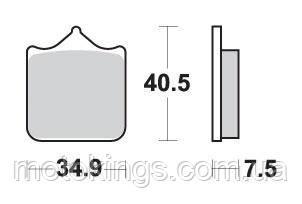 SBS ТОРМОЗНЫЕ КОЛОДКИ    KH322 RACING ДВОЙНОЙ КАРБОН   ЧЕРНЫЙ ЦВЕТ  (762DC)