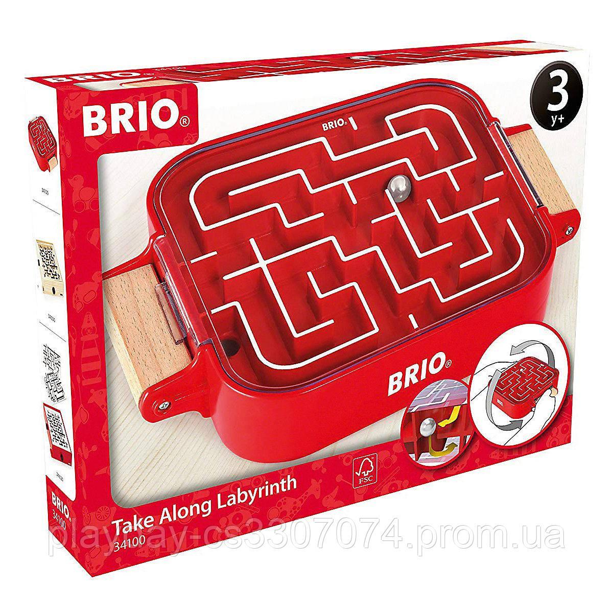 Детская игра лабиринт, двухсторонний, ручной Brio